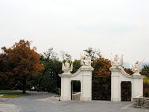 The castle gates in Bratislava. Slovakia Stock Photos