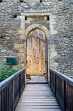 Castle Gateway. Entrance of Kokorin castle, picture taken in the Czech Republic Royalty Free Stock Image