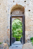 Castle Gateway. Entrance of Kokorin castle, picture taken in the Czech Republic Stock Photo
