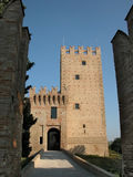 Castle Gateway. The entry gateway of castle della Grancia in the Marche region, Italy Stock Image