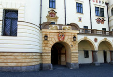 Castle gateway. Romantic castle Zinkovy - South Bohemia, gateway Royalty Free Stock Photo