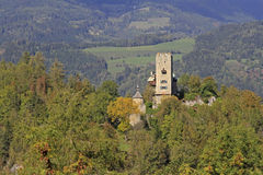 Castle Geiersberg. In the township of Friesach in Carinthia, Austria Stock Image