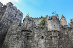 Castle Gent, Βέλγιο Στοκ Εικόνες