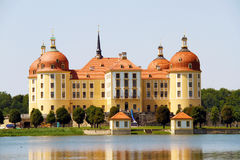 Castle in Germany. Big castel on the lake shore Stock Photography