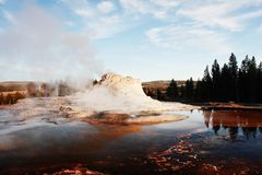 Castle Geyser Royalty Free Stock Photo