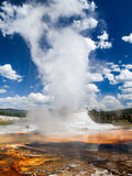 Castle Geyser and Steam stock photo