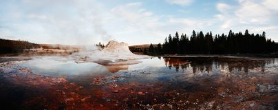 Castle Geyser Panorama Stock Photography