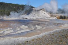 Castle Geyser - Yellowstone Royalty Free Stock Photo