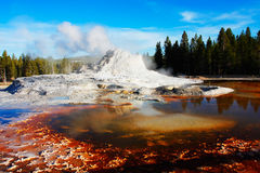 Castle Geyser, Yellowstone Stock Photo