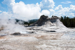 Castle geyser. In yellowstone national park Stock Photo