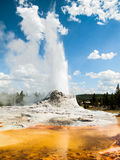 Castle Geyser Erupting with Colorful Pool Royalty Free Stock Image