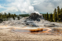 Castle Geyser, Yellowstone National Park Royalty Free Stock Photo