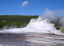 Castle Geyser in Yellowstone Stock Images