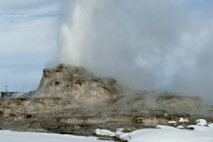 Castle Geyser, Yellowstone NP Stock Photo