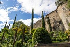 The castle of Girona Stock Photos