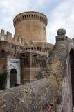 Castle of Giulio II Ostia. Castle of Giulio II in Ostia Antica Rome near archeological Site near the sea stock image