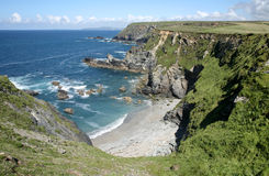 Castle giver cove, Cornwall. Stock Image