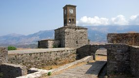 Castle of Gjirokastër in Albania Royalty Free Stock Photography