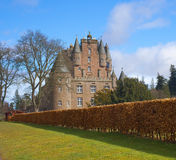 Castle of Glamis in the highlands. Castle of Glamis in the highlands of Scotland Royalty Free Stock Photography