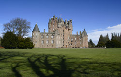 Castle of Glamis in Scotland Royalty Free Stock Photo