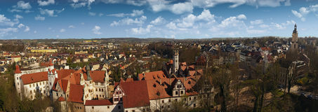 The Castle Glauchau in Germany aerial view Royalty Free Stock Image