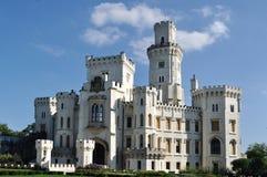 Castle Gluboka nad Vltavoj. Czech republic Stock Photos