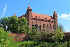 Castle in Gniew, Poland Royalty Free Stock Photos