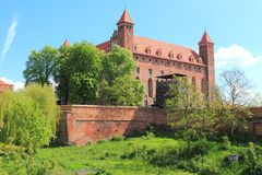 Castle in Gniew, Poland Stock Photography