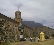 Castle of Good Hope and Table Mountain royalty free stock photos