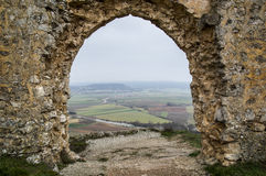 From the castle of Gormaz. In Soria, Spain Stock Photos