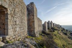 Castle of Gormaz in Soria, Spain. Burgo de Osma, Walls Stock Photos