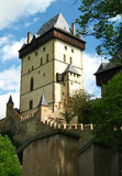 Castle. Gothic castle of Czech Republic Royalty Free Stock Images