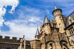Castle in the Gothic style Royalty Free Stock Photography
