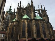 Castle in the Gothic style in Prague Castle Royalty Free Stock Photography