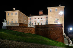 Castle of Govone italy at night Stock Photography