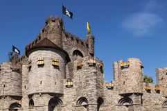 Castle Gravenshteyn in Gent Royalty Free Stock Photography