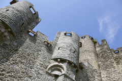 Castle Gravensteen in flemish town of Ghent Stock Image