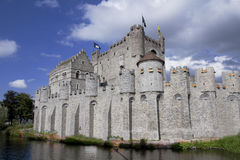 Castle Gravensteen in Ghent Belgium Royalty Free Stock Photography