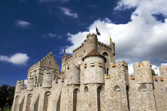 Castle Gravensteen in Ghent Belgium Stock Image