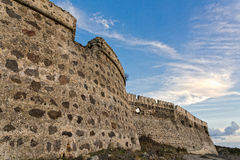 Castle in Greece Royalty Free Stock Images