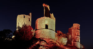 Castle of grimaud at night, france Royalty Free Stock Photography