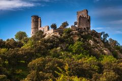 The castle of Grimaud, Provence, France Stock Images