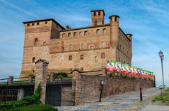 Castle of Grinzane Cavour Stock Image