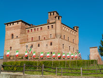 Castle of Grinzane Cavour, Piedmont, Italy Stock Images