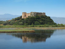Castle of Grivas (Kastro Griva) in Lefkada, Greece. royalty free stock photography