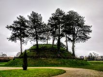 Norman motte Antrim. Castle grounds antrim stock photography