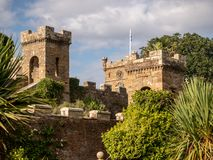 Castle grounds and garden royalty free stock image