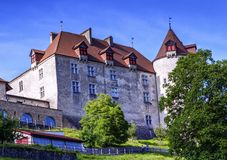 Castle of Gruyeres, Fribourg, Switzerland Stock Photos