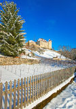 Castle of Gruyeres located in the medieval town of Gruyeres Stock Photo