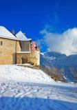 Castle of Gruyeres in Switzerland Stock Photo